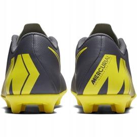 Buty piłkarskie Nike Mercurial Vapor 12 Club Mg AH7378 070 szare szary, żółty 6