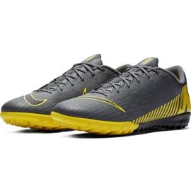 Buty piłkarskie Nike Mercurial Vapor X 12 Academy Tf AH7384 070 szare czarne 5