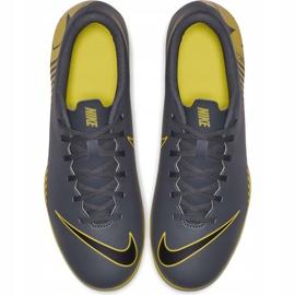Buty piłkarskie Nike Mercurial Vapor 12 Club Mg AH7378 070 szare szary, żółty 2