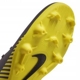 Buty piłkarskie Nike Mercurial Vapor 12 Club Mg AH7378 070 szare szary, żółty 4