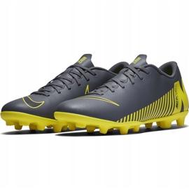 Buty piłkarskie Nike Mercurial Vapor 12 Club Mg AH7378 070 szare szary, żółty 5