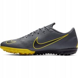 Buty piłkarskie Nike Mercurial Vapor X 12 Academy Tf AH7384 070 szare czarne 1