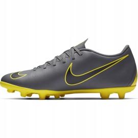 Buty piłkarskie Nike Mercurial Vapor 12 Club Mg AH7378 070 szare szary, żółty 1