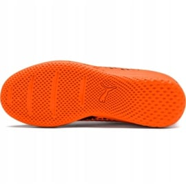 Buty piłkarskie Puma Future 2.4 It Junior czarno-pomarańczowe 104846 02 5
