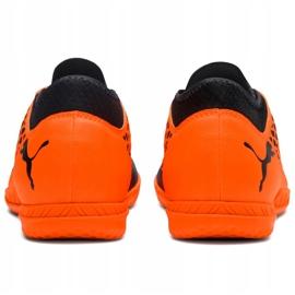 Buty piłkarskie Puma Future 2.4 It Junior czarno-pomarańczowe 104846 02 3