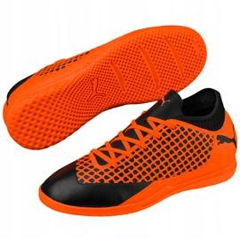 Buty piłkarskie Puma Future 2.4 It Junior czarno-pomarańczowe 104846 02 4