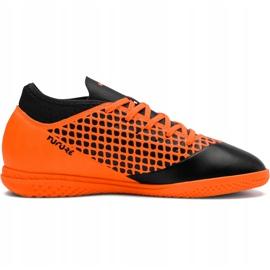 Buty piłkarskie Puma Future 2.4 It Junior czarno-pomarańczowe 104846 02 2