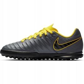 Buty piłkarskie Nike Tiempo Legend 7 Club Tf Jr AH7261 070 szare czarne 1