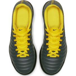 Buty piłkarskie Nike Tiempo Legend 7 Club Tf Jr AH7261 070 szare czarne 2