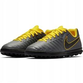 Buty piłkarskie Nike Tiempo Legend 7 Club Tf Jr AH7261 070 szare czarne 4