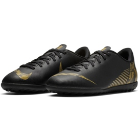 Buty piłkarskie Nike Mercurial Vapor X 12 Club Tf Jr AH7355 077 czarne wielokolorowe 3
