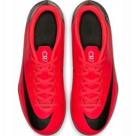 Buty piłkarskie Nike Mercurial Vapor 12 Club Gs CR7 FG/MG Jr AJ3095 600 wielokolorowe czerwone 2