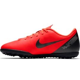 Buty piłkarskie Nike Mercurial Vapor X 12 Club Gs CR7 Tf Jr AJ3106 600 wielokolorowe czerwone 1