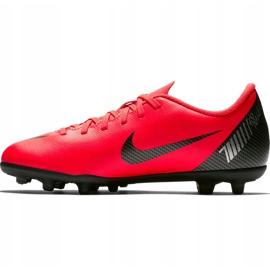 Buty piłkarskie Nike Mercurial Vapor 12 Club Gs CR7 FG/MG Jr AJ3095 600 wielokolorowe czerwone 1
