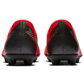 Buty piłkarskie Nike Mercurial Vapor 12 Club Gs CR7 FG/MG Jr AJ3095 600 wielokolorowe czerwone 4