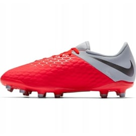 Buty piłkarskie Nike Hypervenom 3 Academy Fg Jr AJ4119 600 czerwone czerwone 2