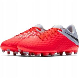 Buty piłkarskie Nike Hypervenom 3 Academy Fg Jr AJ4119 600 czerwone czerwone 3
