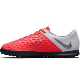 Buty piłkarskie Nike Hypervenom Phantom X 3 Club Tf Jr AJ3790 600 wielokolorowe czerwone 1