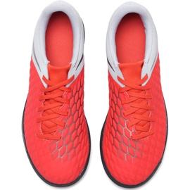 Buty piłkarskie Nike Hypervenom Phantom X 3 Club Tf Jr AJ3790 600 wielokolorowe czerwone 2