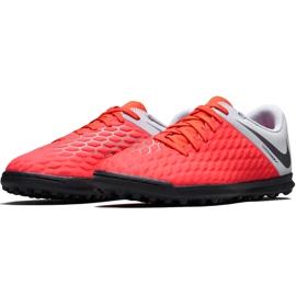 Buty piłkarskie Nike Hypervenom Phantom X 3 Club Tf Jr AJ3790 600 wielokolorowe czerwone 3