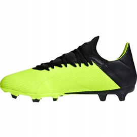 Buty piłkarskie adidas X 18.3 Fg DB2183 żółte żółte 2