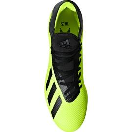 Buty piłkarskie adidas X 18.3 Fg DB2183 żółte żółte 1