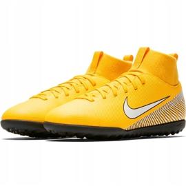 Buty piłkarskie Nike Mercurial Superfly X 6 Club Neymar Tf Jr AO2894 710 żółte wielokolorowe 3