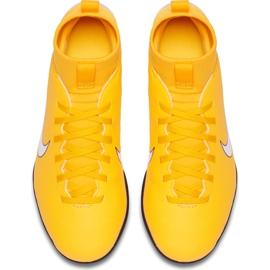 Buty piłkarskie Nike Mercurial Superfly X 6 Club Neymar Tf Jr AO2894 710 żółte wielokolorowe 1