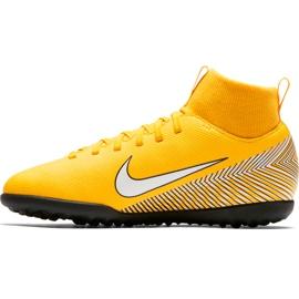 Buty piłkarskie Nike Mercurial Superfly X 6 Club Neymar Tf Jr AO2894 710 żółte wielokolorowe 2