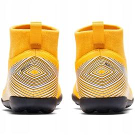 Buty piłkarskie Nike Mercurial Superfly X 6 Club Neymar Tf Jr AO2894 710 żółte wielokolorowe 4