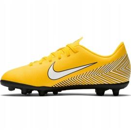 Buty piłkarskie Nike Mercurial Vapor 12 Club Neymar Gs Mg Jr AO9472 710 żółte wielokolorowe 2