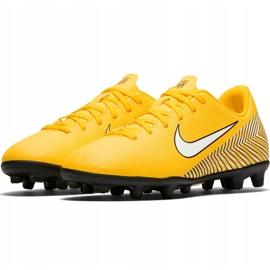 Buty piłkarskie Nike Mercurial Vapor 12 Club Neymar Gs Mg Jr AO9472 710 żółte wielokolorowe 3