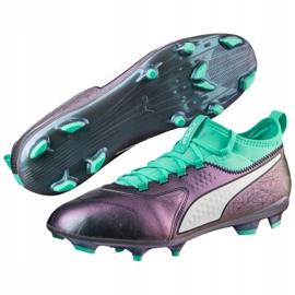 Buty piłkarskie Puma One 3 Il Lth Fg Color Shift-Bi 104928 01 wielokolorowe wielokolorowe 3