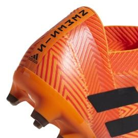 Buty piłkarskie adidas Nemeziz 18.2 Fg DA9580 pomarańczowe wielokolorowe 3
