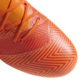 Buty piłkarskie adidas Nemeziz 18.2 Fg DA9580 pomarańczowe wielokolorowe 2