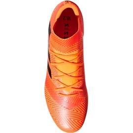 Buty piłkarskie adidas Nemeziz 18.2 Fg DA9580 pomarańczowe wielokolorowe 1