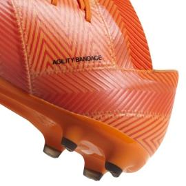 Buty piłkarskie adidas Nemeziz 18.2 Fg DA9580 pomarańczowe wielokolorowe 4