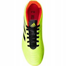 Buty piłkarskie adidas Predator 18.4 FxG Jr DB2321 zielone wielokolorowe 2