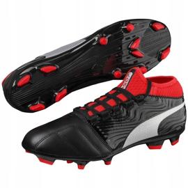 Buty piłkarskie Puma One 18.3 Fg 104538 01 czarne wielokolorowe 2