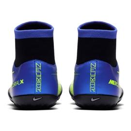Buty piłkarskie Nike Mercurial X Victory 6 Df Neymar Tf 921514 407 niebieskie zielony, niebieski, szary/srebrny 4