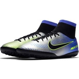 Buty piłkarskie Nike Mercurial X Victory 6 Df Neymar Tf 921514 407 niebieskie zielony, niebieski, szary/srebrny 3