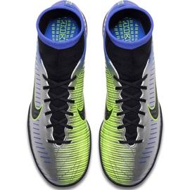 Buty piłkarskie Nike Mercurial X Victory 6 Df Neymar Tf 921514 407 niebieskie zielony, niebieski, szary/srebrny 1