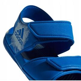 Sandały dla dzieci adidas Alta Swim C BA9289 niebieskie 5