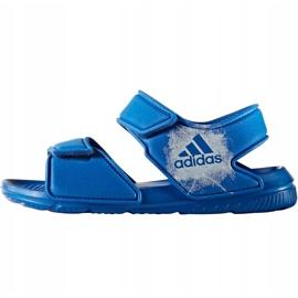 Sandały dla dzieci adidas Alta Swim C BA9289 niebieskie 4
