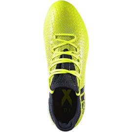 Buty piłkarskie adidas X 17.1 Fg Jr S82297 wielokolorowe zielone 1