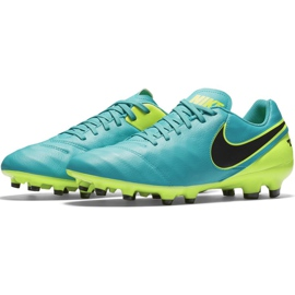Buty piłkarskie Nike Tiempo Genio Ii Leather Fg 819213 307 niebieskie czarne 3