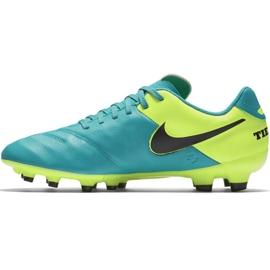 Buty piłkarskie Nike Tiempo Genio Ii Leather Fg 819213 307 niebieskie czarne 2