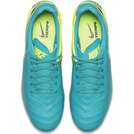 Buty piłkarskie Nike Tiempo Genio Ii Leather Fg 819213 307 niebieskie czarne 1