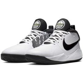 Buty dla dzieci Nike team Hustle D 9 Gs białe AQ4224 100 3