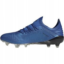 Buty piłkarskie adidas X 19.1 Fg niebieskie EG7126 4